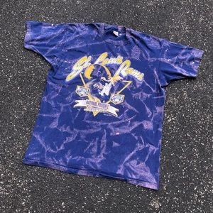 Vintage Rare 90s NFL Rams Bleached XL Tee